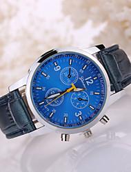 cheap -Men's Wrist Watch Aviation Watch Quartz Leather Black / White Casual Watch Analog Classic - White Black Blue One Year Battery Life / Tianqiu 377