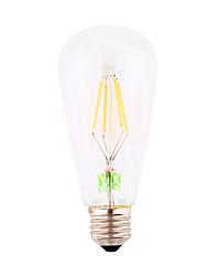 Недорогие -E26/E27 LED лампы накаливания ST64 4 COB 300-400 lm Тёплый белый Декоративная AC 220-240 V 1 шт.
