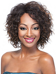 cheap -multi color short synthetic wigs curly wig for african american black women curly wigs