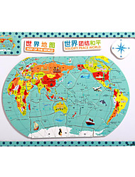 cheap -Children's Cartoon Puzzle Magnetic Wooden Tuba Puzzle Toys-The Map of China