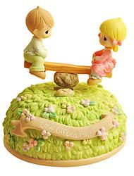 Недорогие -абс зеленый творческий романтическая музыкальная шкатулка для подарка