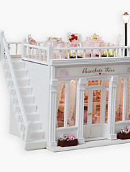 cheap -Chocolate Kiss Diy Hut Creative Valentines Day Gift Handmade Model House