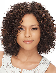 cheap -Human Hair U Part Lace Front Wig style Brazilian Hair Kinky Curly Wig 130% Density 10-30 inch Women's Short Medium Length Long Human Hair Lace Wig