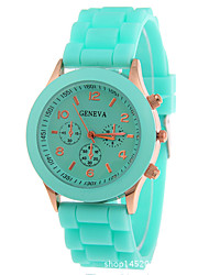 cheap -Women's Wrist Watch Analog Ladies Chronograph / One Year / Silicone