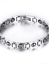 cheap -Men's Chain Bracelet Titanium Steel Bracelet Jewelry Silver For Daily Casual