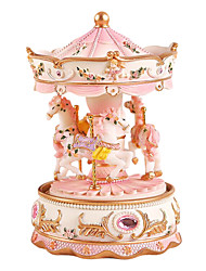 cheap -Music Box Carousel Music Box Unique Women's Boys' Girls' Kid's Adults Graduation Gifts Toy Gift
