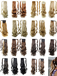 cheap -20inch long curly ponytail clip in synthetic fake hair ponytail for women