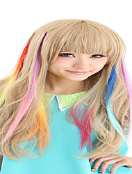 cheap -synthetische colorful clip in hair extensions 1 clips 9color