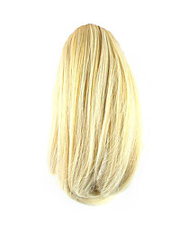 cheap -length white gold wig 26cm synthetic straight high temperature wire gripper small ponytail color 1003