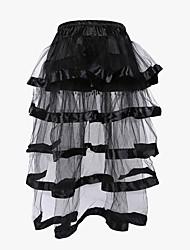 cheap -Women's Lace Not Specified Underbust Corset / Overbust Corset / Corset Dresses - Patchwork Black S M L / Plus Size