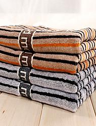 cheap -2pc Pack Stripe Pattern Hand Towel 100% Cotton High Quality Super Soft