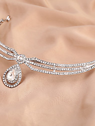 cheap -Rhinestone / Alloy Head Chain with 1 Wedding / Special Occasion Headpiece