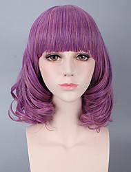 Недорогие -Парики из искусственных волос Волнистый Волнистый Парик Короткие Лиловый Искусственные волосы Жен. Фиолетовый