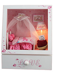 cheap -Diy Hut Chi Fun House Music Box Cute Little Bedroom With Light And Music Handmade Gifts
