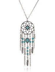 cheap -Women's Pendant Necklace Long Necklace Dream Catcher Ladies Bohemian Double-layer Boho Alloy Silver Necklace Jewelry For Wedding Party Daily Casual