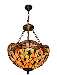 cheap -3-Light Diameter 40cm Shell Shade Pendant Lights Living Room Bedroom Dining Room Light Fixture