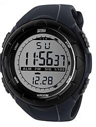 cheap -SKMEI Men's Sport Watch Wrist Watch Digital Watch Digital Charm Water Resistant / Waterproof Digital Titanium Black Jade / Rubber / Alarm / Calendar / date / day / Chronograph / Luminous