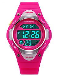 Недорогие -SKMEI Спортивные часы электронные часы Цифровой Pезина Черный / Синий / Розовый 30 m Защита от влаги Будильник Календарь Цифровой Мода - Черный Синий Розовый Два года Срок службы батареи / Секундомер