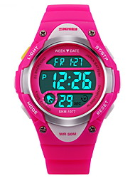 cheap -SKMEI Sport Watch Digital Watch Digital Fashion Water Resistant / Waterproof Digital Black Blue Pink / Two Years / Rubber / Alarm / Calendar / date / day / Chronograph