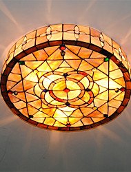 cheap -3-Light 45cm(17.7 Inch) Mini Style Flush Mount Lights Metal Shell Others Tiffany 110-120V / 220-240V / E26 / E27
