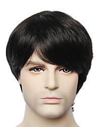 cheap -Human Hair Wig Straight kinky Straight Short Hairstyles 2019 kinky straight Straight Capless