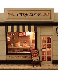 cheap -For A European Home Diy Hut Stores Cake Love With Lamp Creative Chinese Valentine'S Day Gift