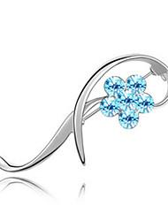 Недорогие -высокое качество кристалл цветок брошь для свадьбы партии леди