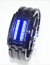 cheap -Men's Women's Couple's Wrist Watch Digital Black / Silver 30 m Water Resistant / Waterproof Creative LED Digital Fashion Unique Creative - Silver Black / Red Black / Blue One Year Battery Life