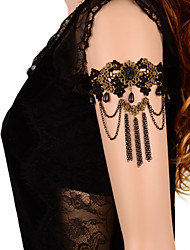 cheap -Body Chain Armband Bracelet Ladies Gothic Women's Body Jewelry For Daily Casual Lace Flower Black