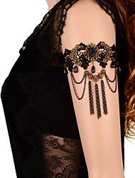 Недорогие -Цепь Тела / Belly Chain Браслет на плечо Дамы Готика Жен. Украшения для тела Назначение Повседневные Косплэй костюмы Кружево Цветы Черный
