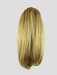 cheap -length golden wig 26cm synthetic straight high temperature wire gripper small ponytail color 1011