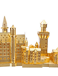 cheap -Famous buildings 3D Puzzle Wooden Puzzle Metal Puzzle Wooden Model Metal Kid's Adults' Toy Gift
