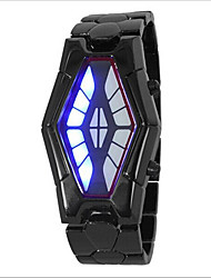 cheap -Men's Women's Couple's Wrist Watch Digital Fashion Water Resistant / Waterproof Digital Black / Red Black / Blue Silver / LED
