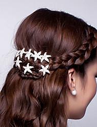 cheap -Hot Dish Hair Flower U-Shaped Clamp Starfish Hair Hair Clasp Diamond Tiara 10pcs