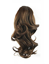 cheap -length brown wig 34cm synthetic curly high temperature wire gripper horsetail hair color 2 33