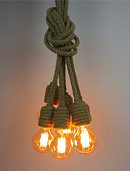 abordables -6-tête vintage corde de chanvre industriel pendentif lumières salon salle à manger café bars magasin de vêtements décoration lumière