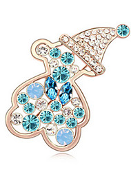 cheap -High Quality Crystal Bear Brooch for Wedding Party Lady