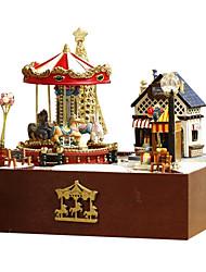 Недорогие -для счастливого дома поделки хижины троянский сад вручную собран небольшой дом модель вращающийся творческий подарок