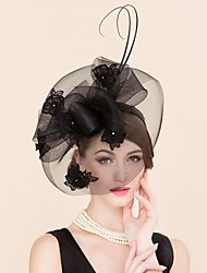 cheap -Tulle Lace Rhinestone Fascinators Birdcage Veils Headpiece