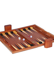 Недорогие -17 дюймов деревянная поверхность вентилятора баккара шахматы нарды из массива дерева кости чашки акриловые кости