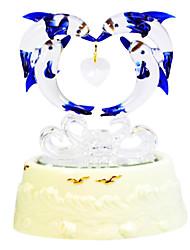 Недорогие -гончарные белый творческий романтическая музыкальная шкатулка для подарка