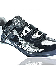 cheap -SIDEBIKE Road Bike Shoes Carbon Fiber Waterproof Breathable Anti-Slip Cycling Black Men's Cycling Shoes / Cushioning / Ventilation / Ultra Light (UL) / Synthetic Microfiber PU / Cushioning