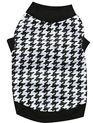 cheap -Cat Dog Shirt / T-Shirt Dog Clothes Black / White Cotton Costume For Spring &  Fall Summer Men's Women's Fashion
