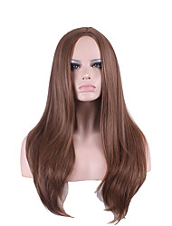 cheap -Synthetic Wig Straight kinky Straight kinky straight Straight Asymmetrical Wig Long Synthetic Hair Women's Natural Hairline Brown
