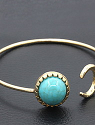 cheap -Women's Turquoise Cuff Bracelet Cheap Fashion Turquoise Bracelet Jewelry Silver / Golden For Daily Casual