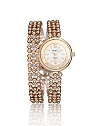 cheap -2016 Luxury Noble Full Cubic Zircon Gold Quartz Women Party Wedding Chain Watches