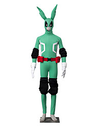cheap -Inspired by My Hero Academy Battle For All / Boku no Hero Academia Midoriya Izuku Anime Cosplay Costumes Japanese Cosplay Suits Solid Colored Long Sleeve Leotard / Onesie / Gloves / Belt For Men's