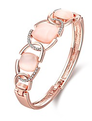 cheap -Women's Cubic Zirconia Bracelet Bangles Vintage Party Work Casual Fashion Zircon Bracelet Jewelry Rose Gold For Wedding Party Daily Casual / Opal / Rose Gold Plated / Rose Gold Plated