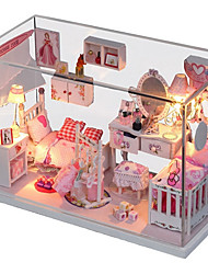 cheap -Hoomeda Dollhouse Pretend Play Model Building Kit Novelty House Textile Wooden Plastic 1 pcs Toy Gift