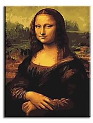 cheap -Hand Painted Oil Painting Mona lisa Unique Gift with Stretched Frame Ready to Hang